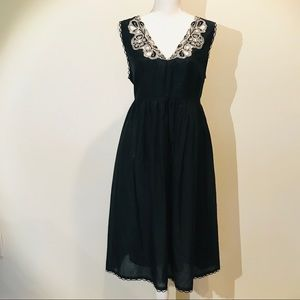 Banana Republic Black silk/cotton dress